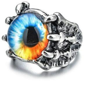 NWT Adjustable Dragon Claw Evil Eye Ring